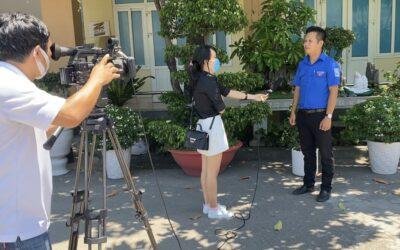 """Thực hiện chương trình phóng sự """"Phát triển đoàn viên"""" của đài KTV Khánh Hòa"""
